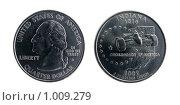 1/4 доллара; 25 центов; 2002 г. Стоковое фото, фотограф Евгений Зиновьев / Фотобанк Лори