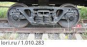 Купить «Вагонная колёсная пара», фото № 1010283, снято 1 августа 2009 г. (c) Erudit / Фотобанк Лори