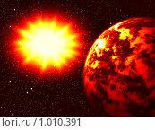 Взрыв большой звезды. Стоковая иллюстрация, иллюстратор Карелин Д.А. / Фотобанк Лори