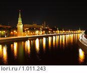Ночной Кремль (2009 год). Стоковое фото, фотограф Александр / Фотобанк Лори