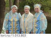 Купить «Пожилые женщины в народных костюмах (Оренбургская область, г. Орск)», фото № 1013803, снято 13 мая 2009 г. (c) Евгений Батраков / Фотобанк Лори