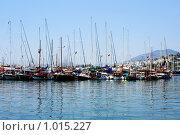 Купить «Яхты в порту Бодрума», фото № 1015227, снято 12 июня 2007 г. (c) ElenArt / Фотобанк Лори
