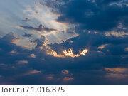 Купить «Темное небо перед закатом», фото № 1016875, снято 26 июля 2009 г. (c) Сергей Яковлев / Фотобанк Лори