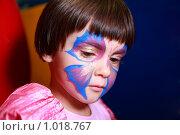 Девочка с гримом бабочки. Стоковое фото, фотограф Losevsky Pavel / Фотобанк Лори