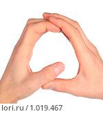 Сложенная из рук буква  Q. Стоковое фото, фотограф Losevsky Pavel / Фотобанк Лори