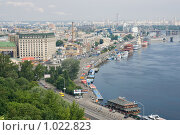 Киев, вид на речной вокзал (2009 год). Редакционное фото, фотограф Алексей Котлов / Фотобанк Лори