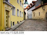 Купить «Улица старого Таллина», фото № 1025039, снято 12 июля 2009 г. (c) Алексей Лебедев / Фотобанк Лори