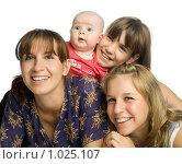 Купить «Мама и три дочери», фото № 1025107, снято 29 июля 2009 г. (c) Григорьева Любовь / Фотобанк Лори