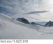 На вершине горы Муссу-Ачитару в Домбае. Стоковое фото, фотограф Людмила Панкова / Фотобанк Лори