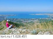 Горный пейзаж с видом на море, фото № 1028451, снято 9 августа 2009 г. (c) Игорь Архипов / Фотобанк Лори