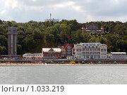Купить «Светлогорск ,вид с моря», эксклюзивное фото № 1033219, снято 11 июля 2009 г. (c) Svet / Фотобанк Лори