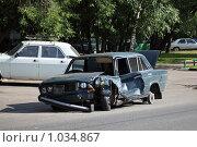 Купить «Разбитая машина», фото № 1034867, снято 28 июня 2009 г. (c) Dmitry Nabokov / Фотобанк Лори