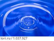 Поверхность воды после падения капли. Стоковое фото, фотограф Минаев С.Г. / Фотобанк Лори