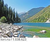 Высокогорное озеро. Стоковое фото, фотограф Ирина  Чуприна / Фотобанк Лори