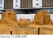Купить «Скульптурная композиция из песка: Бородинское сражение», фото № 1040635, снято 1 августа 2009 г. (c) Fro / Фотобанк Лори