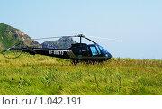 Купить «Вертолет ENSTROM», фото № 1042191, снято 16 августа 2009 г. (c) Елена Климовская / Фотобанк Лори