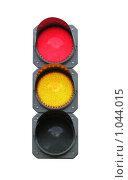 Светофор, красный и желтый свет. Стоковое фото, фотограф Евгений Зиновьев / Фотобанк Лори