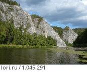 Купить «Река Агидель (Белая), горы, Башкирия», фото № 1045291, снято 3 августа 2009 г. (c) Дживита / Фотобанк Лори