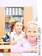 Купить «Ученица начальной школы», фото № 1047283, снято 20 августа 2009 г. (c) Евгений Захаров / Фотобанк Лори