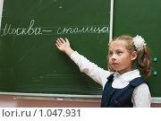Купить «Ученица у доски на уроке русского языка», эксклюзивное фото № 1047931, снято 20 августа 2009 г. (c) Оксана Гильман / Фотобанк Лори