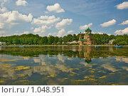 Отражение облаков в Останкинском пруду (2009 год). Стоковое фото, фотограф Елена Элевтерова / Фотобанк Лори