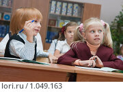 Купить «Первоклассники на уроке», фото № 1049163, снято 20 августа 2009 г. (c) Оксана Гильман / Фотобанк Лори