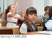 Купить «Первоклассники на уроке», фото № 1049259, снято 20 августа 2009 г. (c) Оксана Гильман / Фотобанк Лори