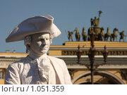 Купить «Сны о чем-то большем. Живая статуя», фото № 1051359, снято 25 мая 2008 г. (c) Владимир Трифонов / Фотобанк Лори