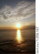 Морской закат. Стоковое фото, фотограф Дмитрий Жеглов / Фотобанк Лори