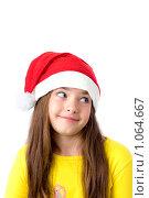 Купить «Девочка в новогоднем колпаке», фото № 1064667, снято 12 августа 2009 г. (c) Анна Игонина / Фотобанк Лори