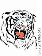 Белый тигр.Рисунок. Стоковая иллюстрация, иллюстратор Галина Щурова / Фотобанк Лори