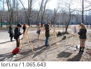 Юные художники (2008 год). Редакционное фото, фотограф Григорий Евсеев / Фотобанк Лори