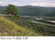 Купить «Вид с горы Чертов Палец на долину реки Катунь. Алтай», фото № 1066139, снято 26 июля 2009 г. (c) Юлия Машкова / Фотобанк Лори
