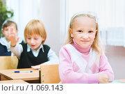 Купить «Ученик начальной школы», фото № 1069143, снято 20 августа 2009 г. (c) Евгений Захаров / Фотобанк Лори