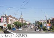 Купить «Улица Масленникова, Омск», фото № 1069979, снято 7 июля 2008 г. (c) Asja Sirova / Фотобанк Лори