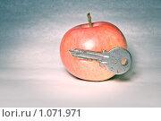 Купить «Яблоко и ключ», фото № 1071971, снято 5 сентября 2009 г. (c) Stepanuk Valera / Фотобанк Лори