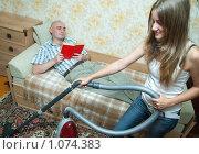 Купить «Уборка в квартире», фото № 1074383, снято 6 сентября 2009 г. (c) Яков Филимонов / Фотобанк Лори