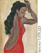Купить «Мулатка в красном платье», иллюстрация № 1075223 (c) Ольга Лерх Olga Lerkh / Фотобанк Лори