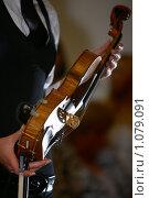 Купить «Скрипка в руках музыканта», фото № 1079091, снято 11 июля 2020 г. (c) М / Фотобанк Лори