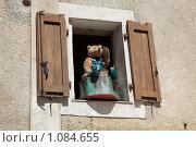 Купить «Горная деревня Гурдон. Окно», фото № 1084655, снято 8 июля 2009 г. (c) Татьяна Лата / Фотобанк Лори
