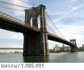 Купить «Бруклинский мост в Нью Йорке, США», фото № 1085091, снято 30 мая 2008 г. (c) Евгений Дубинчук / Фотобанк Лори