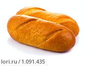 Хлеб на белом фоне. Стоковое фото, фотограф Вадим Литвиненко / Фотобанк Лори