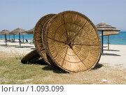 Пляжные зонтики (2007 год). Стоковое фото, фотограф Мальцева Наталья / Фотобанк Лори