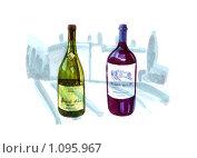 Бутылки. Стоковая иллюстрация, иллюстратор Светлана Бакланова / Фотобанк Лори
