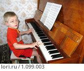 Купить «Занятия музыкой», фото № 1099003, снято 12 апреля 2008 г. (c) Юлия Подгорная / Фотобанк Лори