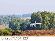 Купить «L-410, взлет», эксклюзивное фото № 1104123, снято 12 сентября 2009 г. (c) Alexei Tavix / Фотобанк Лори