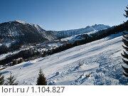 Купить «Зимние Альпы (франция)», фото № 1104827, снято 29 декабря 2008 г. (c) Сергей Шумаков / Фотобанк Лори
