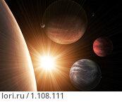 Купить «Планеты и Солнце», иллюстрация № 1108111 (c) Лукиянова Наталья / Фотобанк Лори