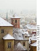 Купить «Зимняя Прага. Вид на город от стен Пражского Града.», фото № 1109611, снято 7 января 2009 г. (c) Rogal Anna / Фотобанк Лори