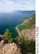 Вид на побережье Байкала со скалы Скрипер. Стоковое фото, фотограф Андрей Мелкозеров / Фотобанк Лори